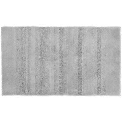 Essence Platinum Gray 24 in. x 40 in. Washable Bathroom Accent Rug