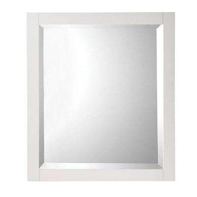 W Framed Single Wall Mirror In White