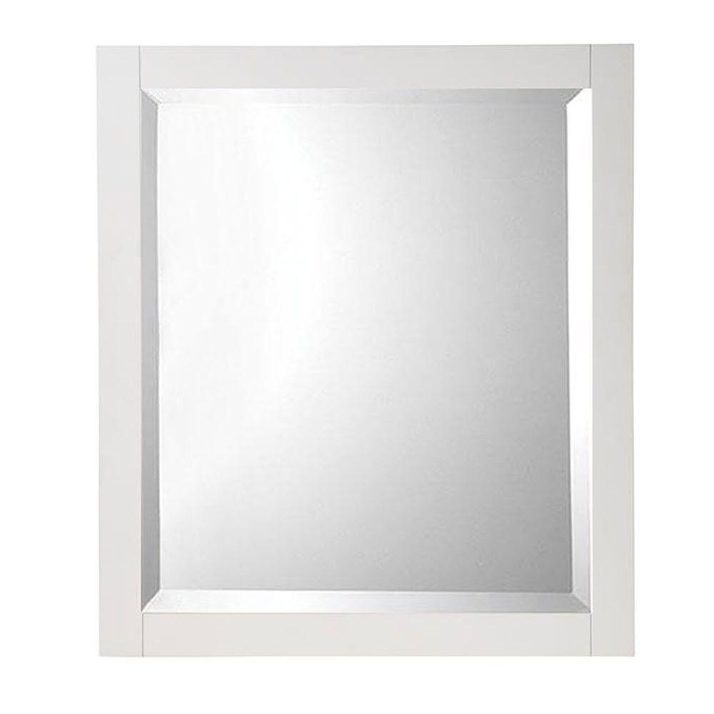 Home decorators collection fraser 32 in h x 28 in w for White framed mirror