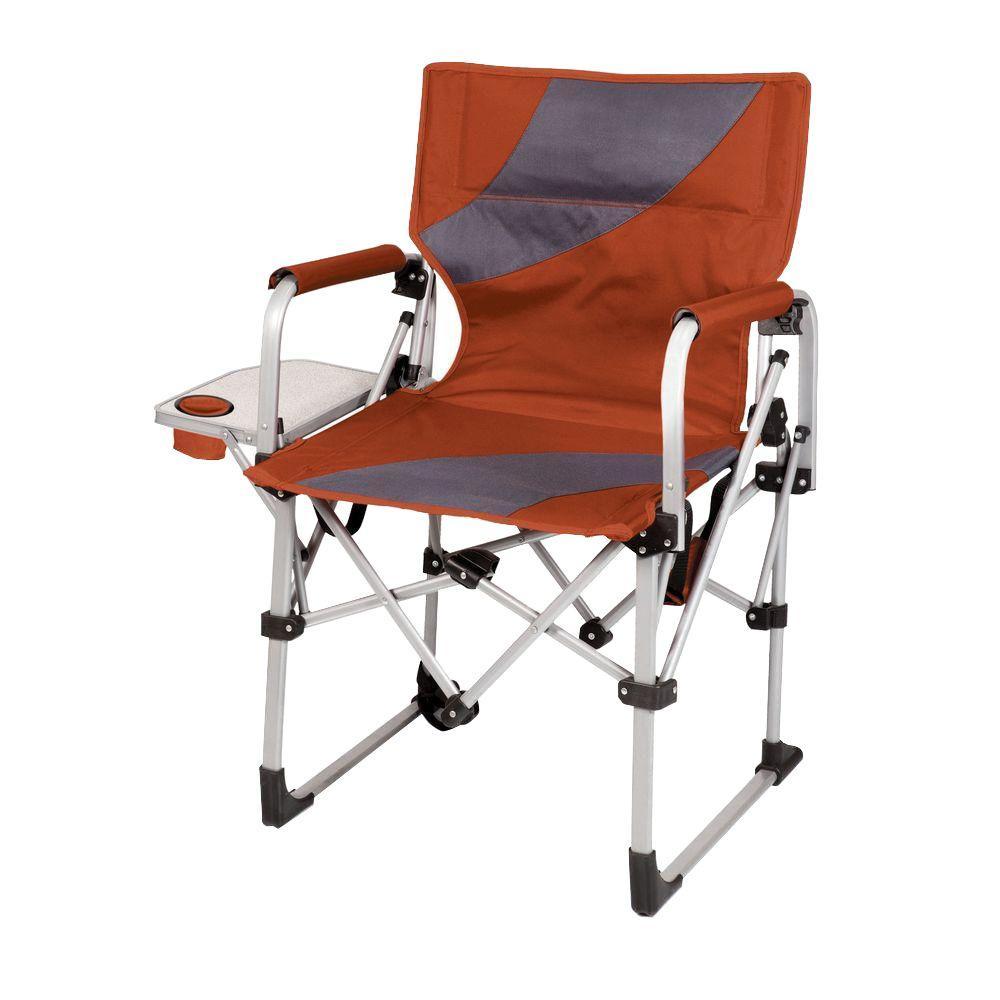 Burnt Orange Meta Portable Folding All-in-One Patio Chair