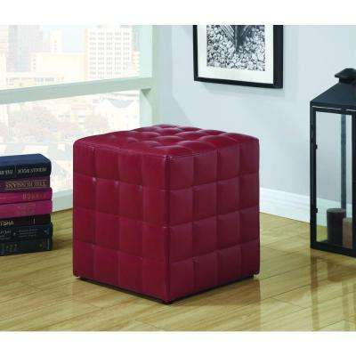Red Accent Ottoman