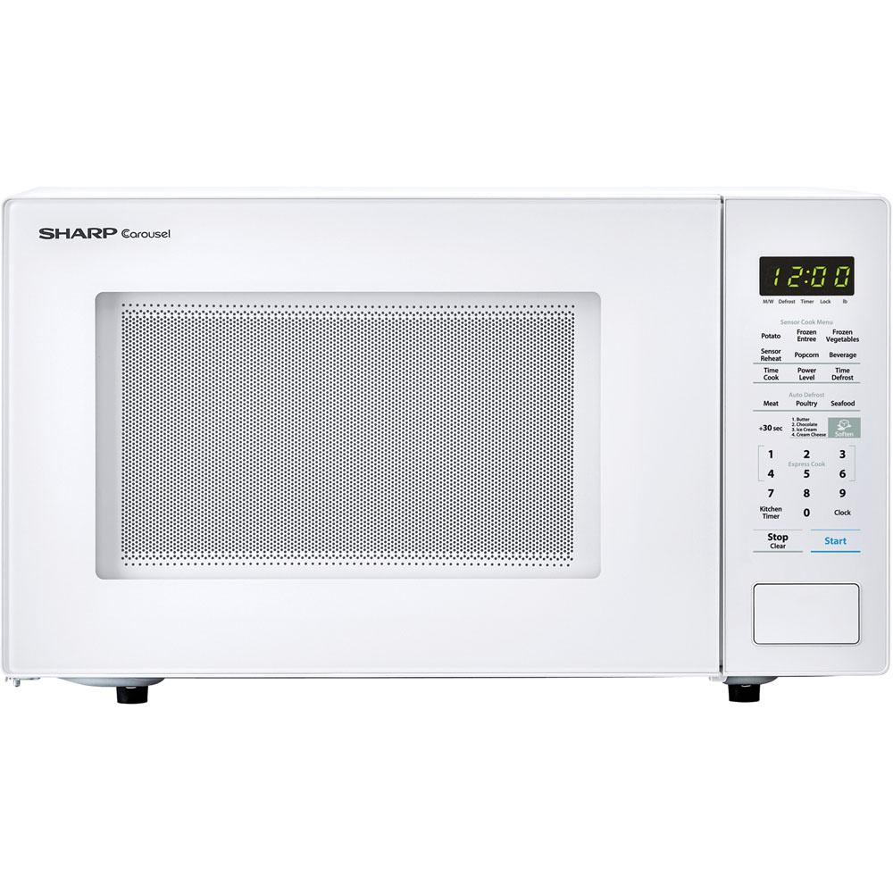 Sharp Carousel 1 4 Cu Ft Countertop Microwave In White With Sensor Cooking Technology