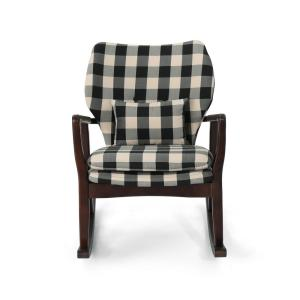 Tremendous Noble House Irvin Mid Century Modern Black Checkerboard Alphanode Cool Chair Designs And Ideas Alphanodeonline