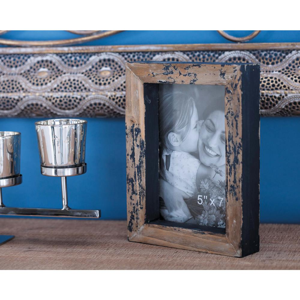 Titan lighting 5 x 7 and 4 x 6 1 opening assorted size embossed 1 opening distressed brown picture frames 2 pack jeuxipadfo Choice Image