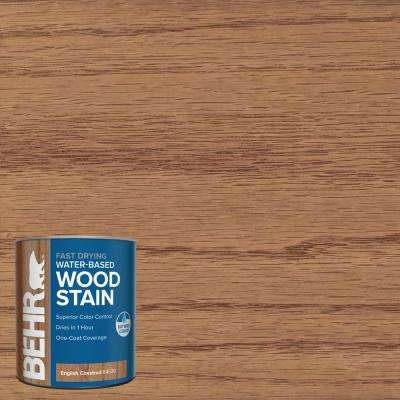 1 qt. #TIS-520 English Chestnut Transparent Water-Based Fast Drying Interior Wood Stain
