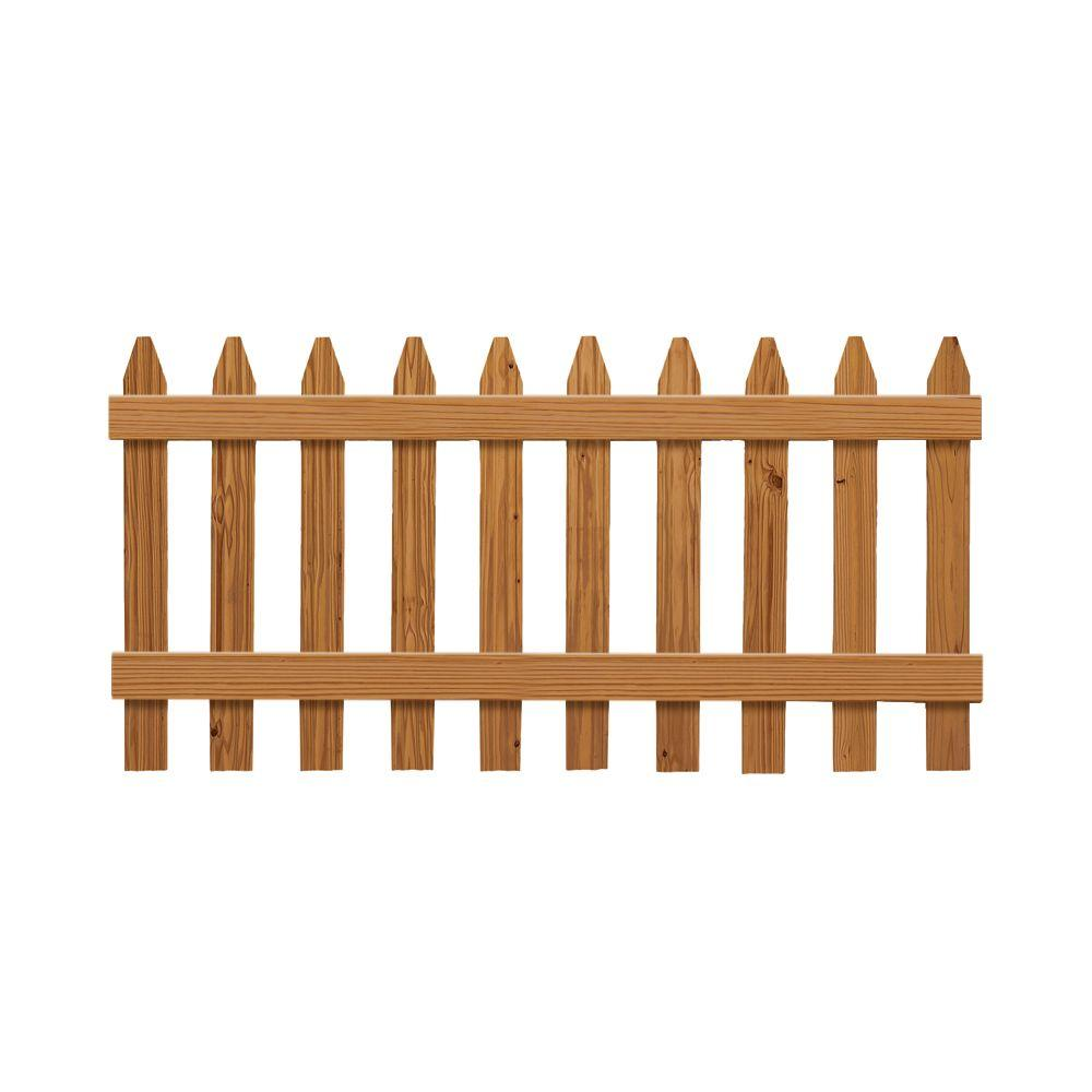 Outdoor Essentials 3 Ft X 6 Pressure Treated Cedar Tone Moulded Wood Fence Panel