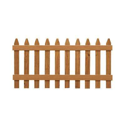 3 ft. x 6 ft. Pressure-Treated Cedar-Tone Moulded Wood Fence Panel