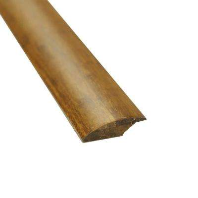 Carbonized 7/16 in. Thick x 2 in. Wide x 72-3/4 in. Length Strand Bamboo Lap Reducer Molding