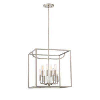 Uptown 8-Light Satin Platinum Interior Foyer