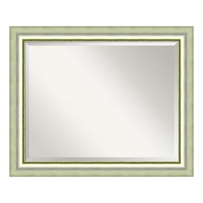Medium Rectangle Burnished Silver Casual Mirror (26.88 in. H x 32.88 in. W)