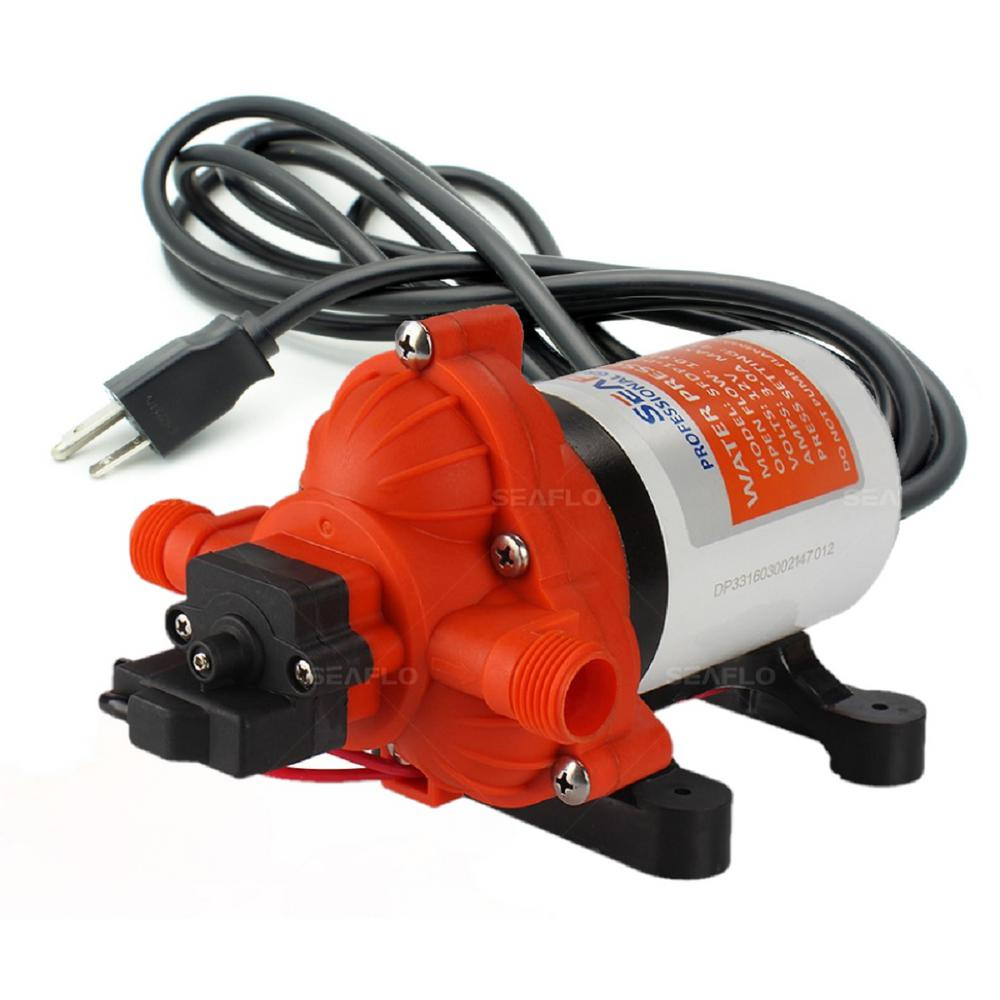 Ports Suction Hose//Strainer And Spare Impeller FPOWER 115V 1//10 HP 330 GPH Self-Priming Utility Portable Water Transfer Pump With 3//4 in