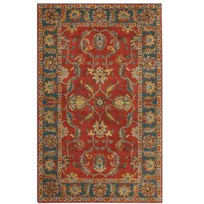 Aristrocrat Rust Red 8 ft. x 10 ft. Area Rug