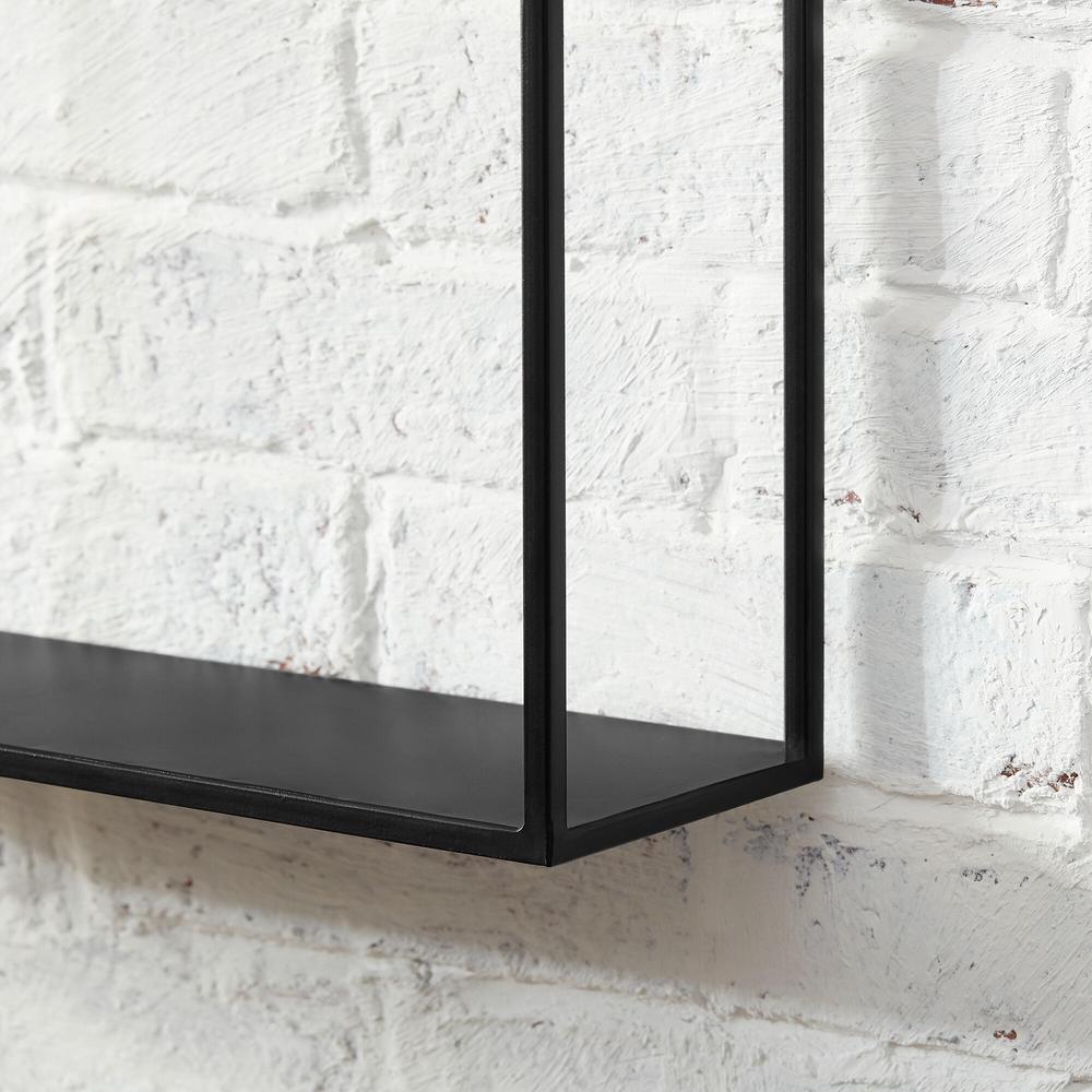 StyleWell Black Metal Wall-Mount Floating Shelf (Set of 3)