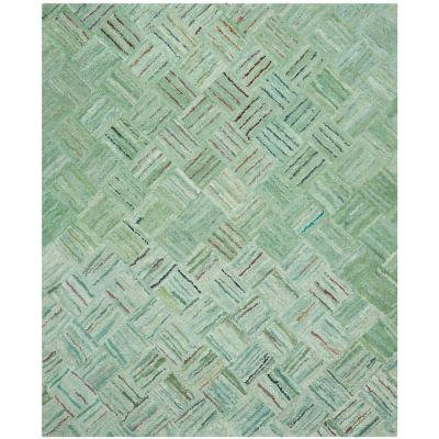 Nantucket Green/Multi 9 ft. x 12 ft. Area Rug