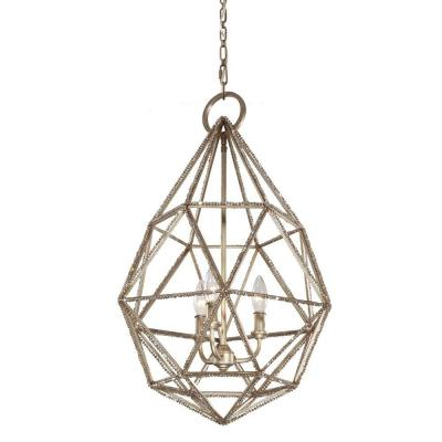 Marquise 3-Light Burnished Silver Indoor Pendant