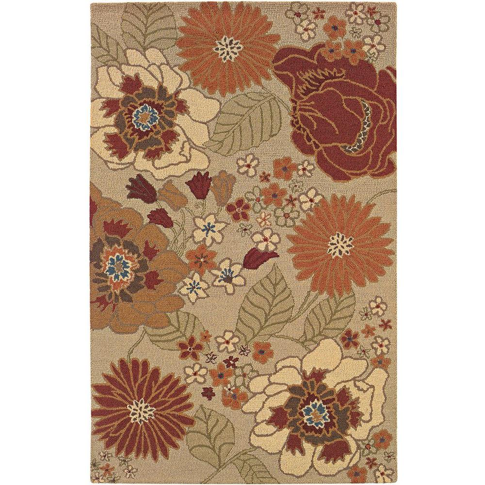 LR Resources Transitional Beige Rectangle 7 ft. 9 in. x 9 ft. 9 in. Plush Indoor Area Rug