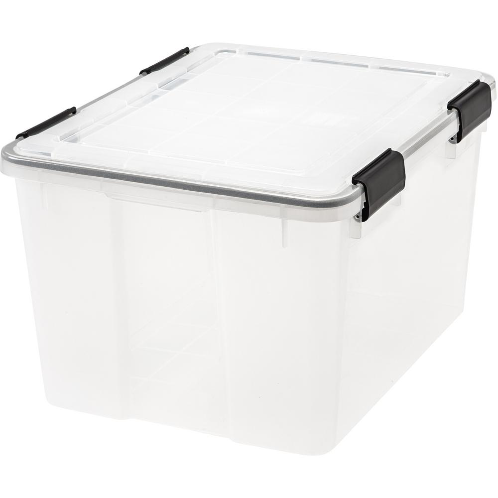 IRIS 46-Qt. Weathertight Storage Box in Clear (6-Pack)
