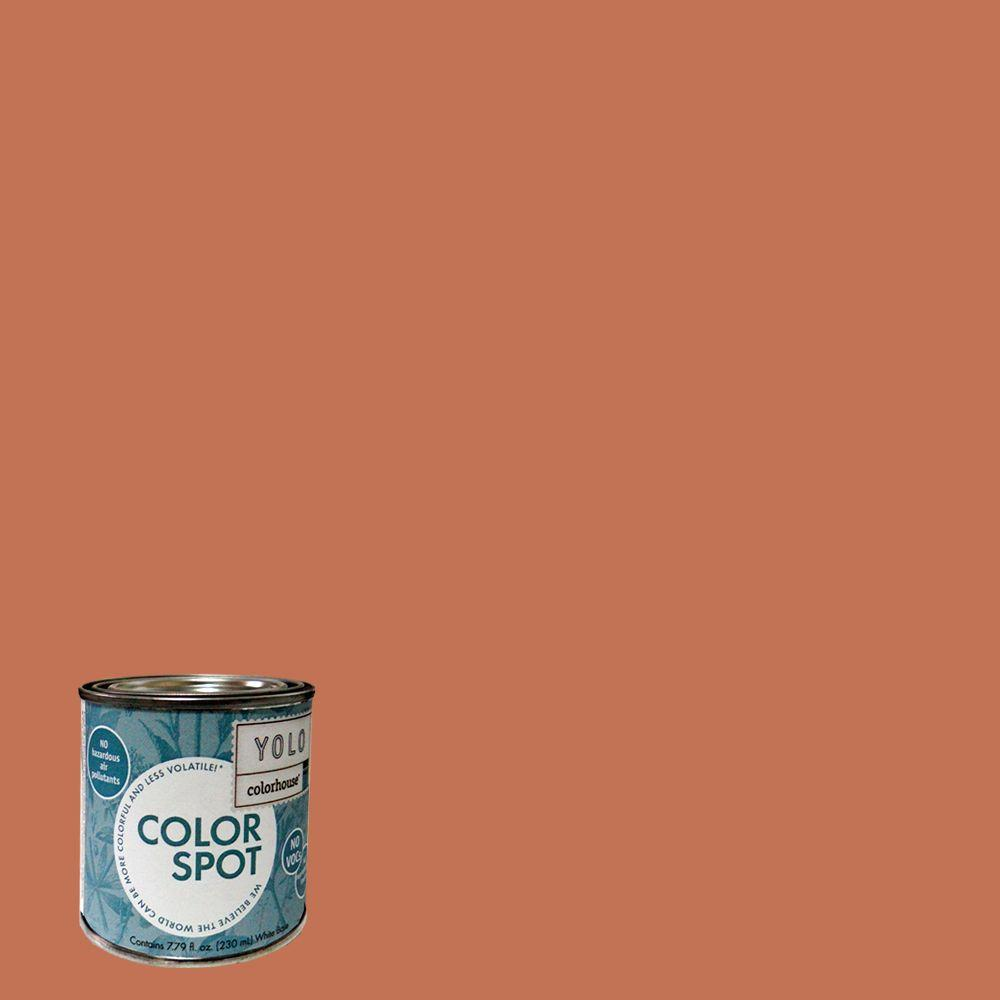 YOLO Colorhouse 8 oz. Clay .07 ColorSpot Eggshell Interior Paint Sample-DISCONTINUED