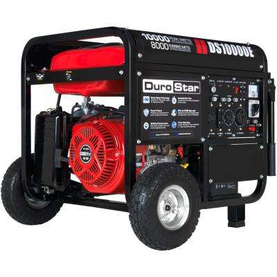 10000 / 8,000-Watt Gasoline Powered Electric Start Portable Generator with Wheel Kit