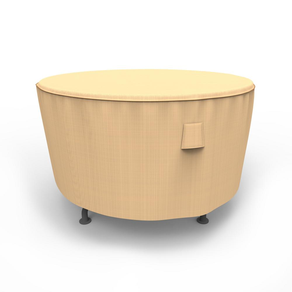 225 & Budge Sedona Medium Tan Outdoor Round Patio Table Cover