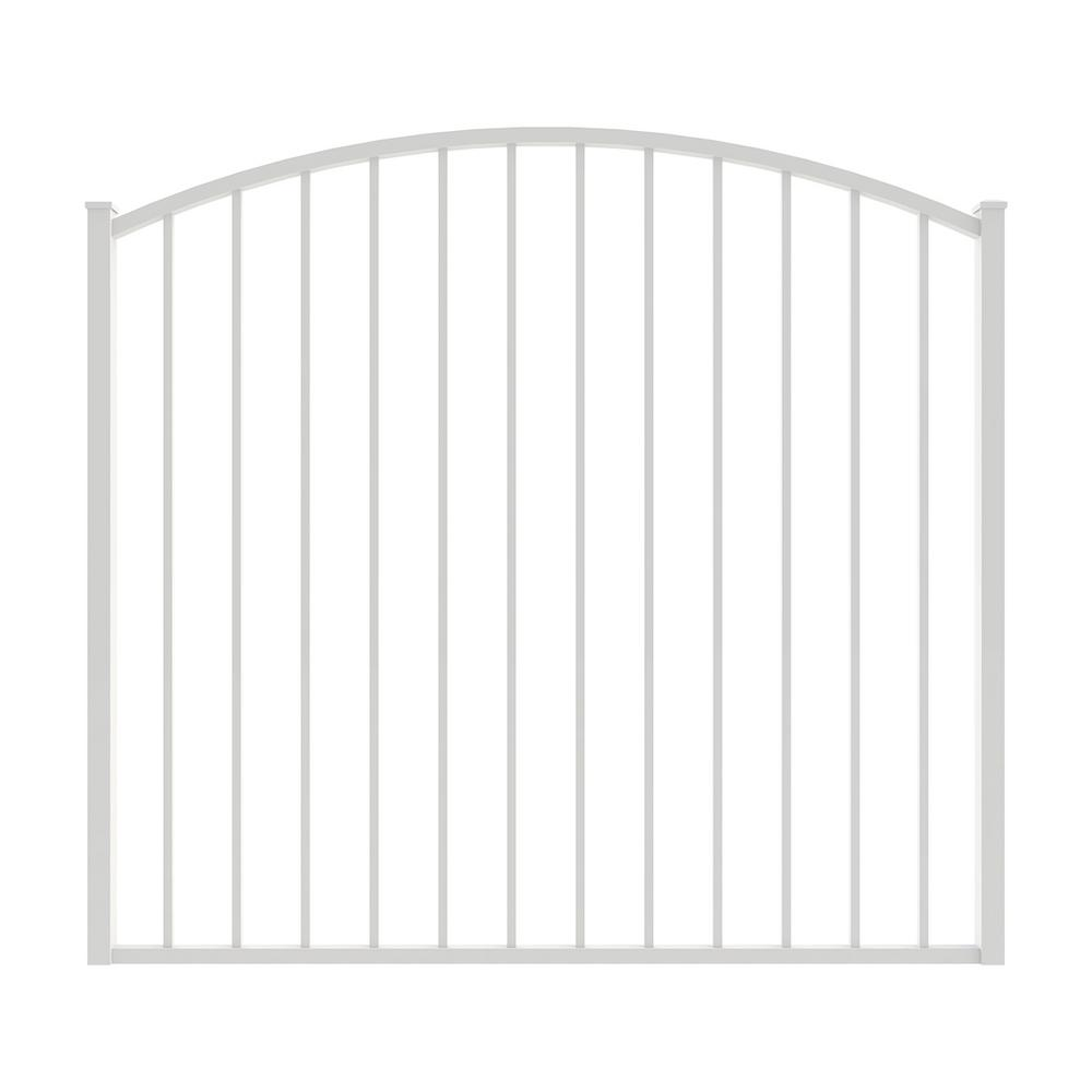 Newtown 5 ft. W x 4 ft. H White Aluminum Arched