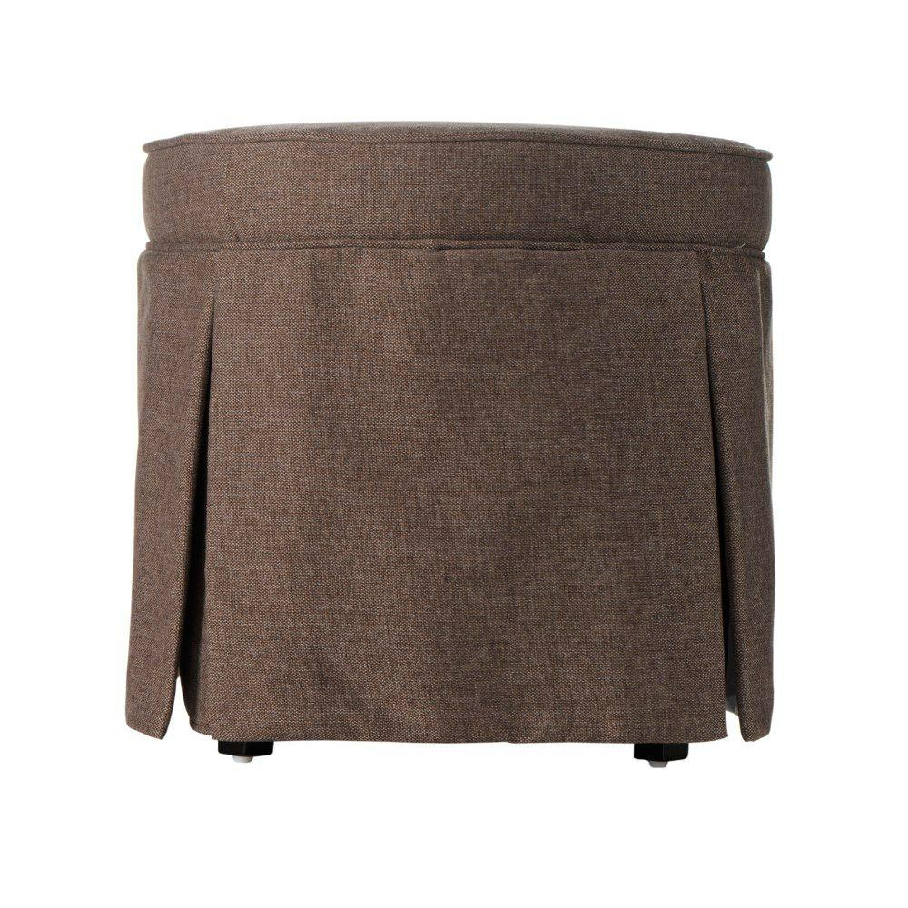 Home Decorators Collection Sydney 19.3 in. H Brown Vanity Stool