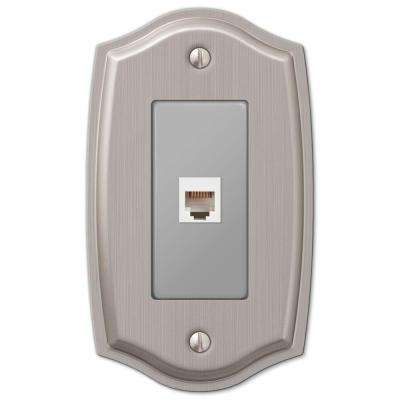 Sonoma 1 Phone Wall Plate - Brushed Nickel