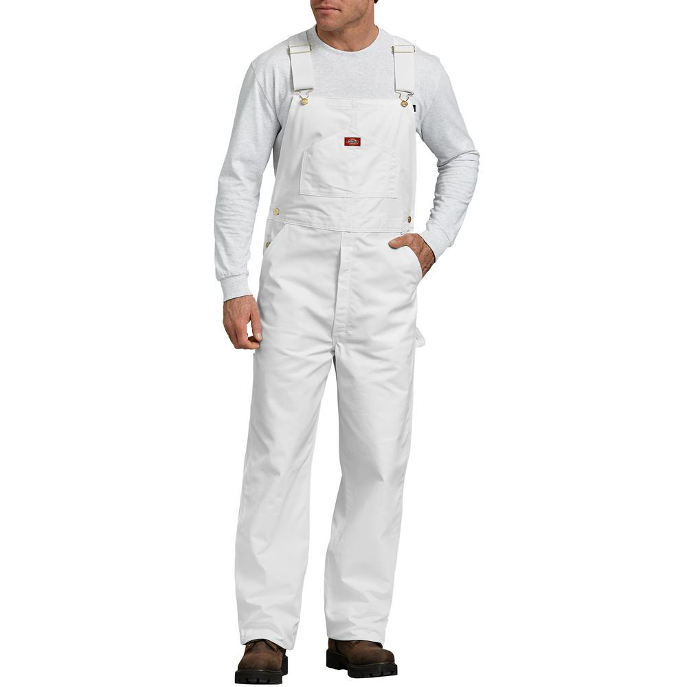 Dickies Men's White Painter's Bib Overall