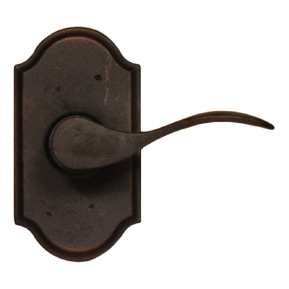 Molten Bronze Oil-Rubbed Bronze Right-Hand Premiere Passage Carlow Lever