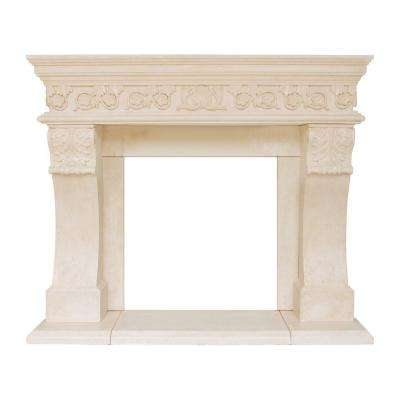 President Series Churchill 52 in. x 62 in. Cast Stone Mantel