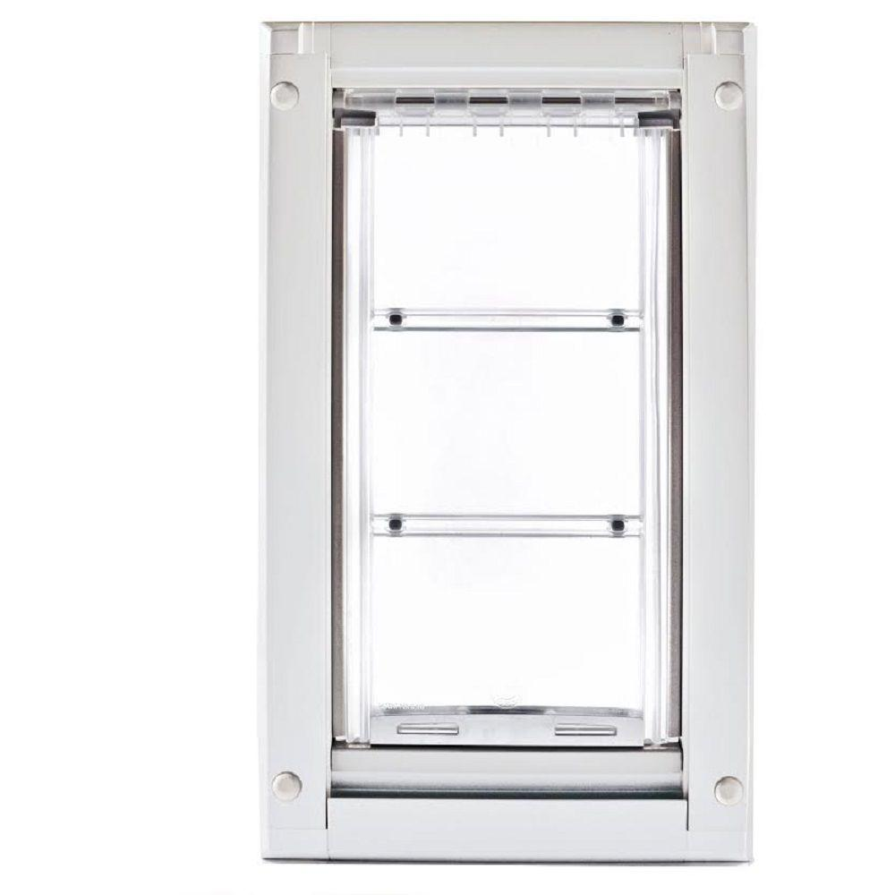 Endura flap 14 in l x 8 in w medium double flap for for Double door with dog door