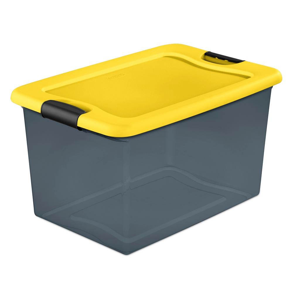 64Qt. Latching Box in Gray Tint