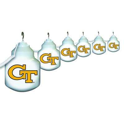 6-Light Outdoor Georgia Tech String Light Set
