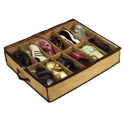 12-Pair Under Bed Shoe Storage