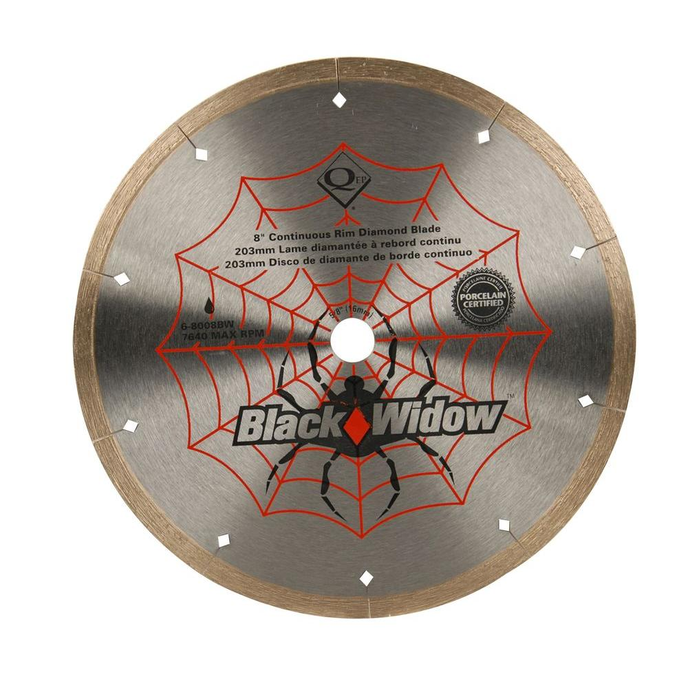 8 in. Black Widow Micro-Segmented Diamond Blade for Porcelain and Ceramic
