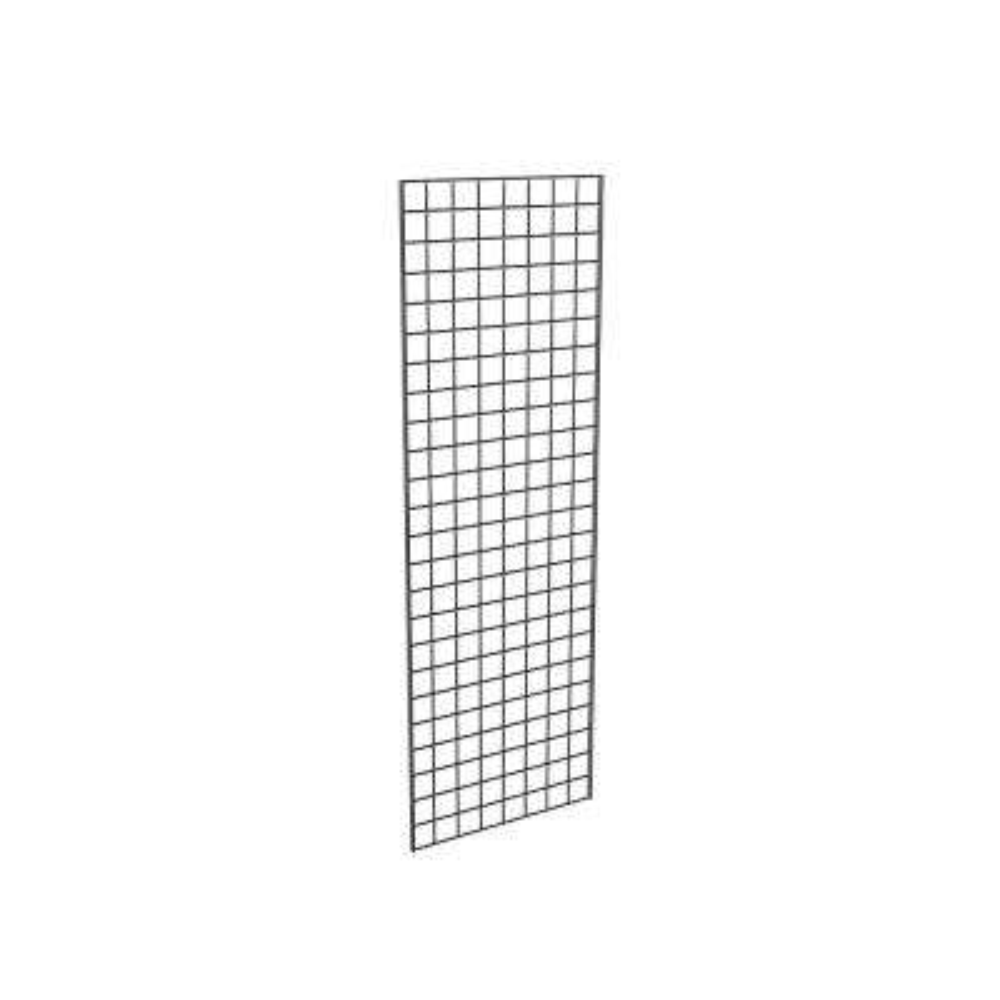 72 in. H x 24 in. W Black Metal Grid Wall Panel Set (3-Pack)