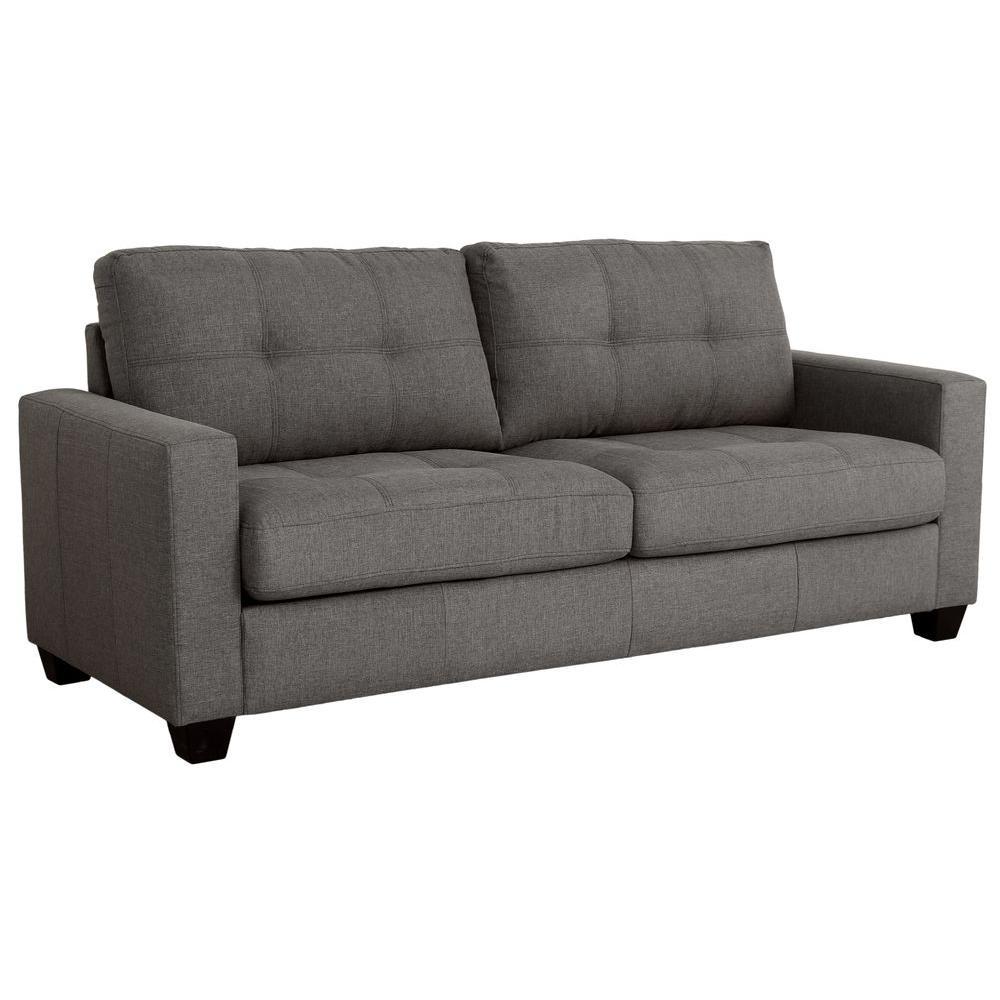 3 null tanya modern 2piece grey tufted sofa