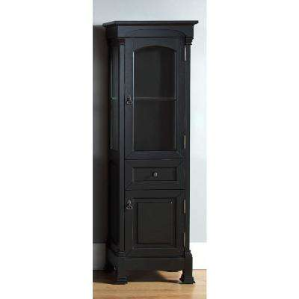 Brookfield 20.50 in. W x 16.25 in. D x 65 in. H Double Door Floor Cabinet in Antique Black