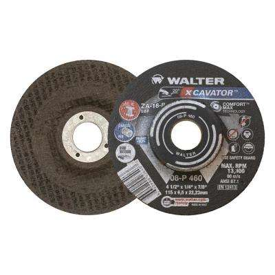Xcavator 4.5 in. x 7/8 in. Arbor x 1/4 in. T27 ZA-16 P High Removal Grinding Wheel (25-Pack)