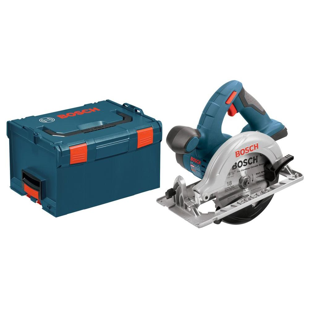 Bosch 18 Volt Lithium-Ion Cordless Electric 6-1/2 in. Power Circular Saw with Hard Case (Tool-Only)