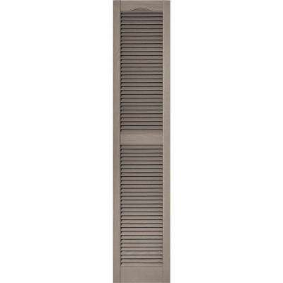 15 in. x 72 in. Louvered Vinyl Exterior Shutters Pair in #008 Clay