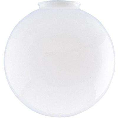 6 in. White Polycarbonate Globe with 3-1/4 in. Fitter