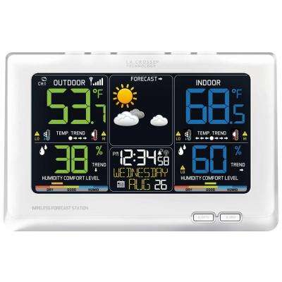 Wireless Forecast Station with Multi-Color LED in White