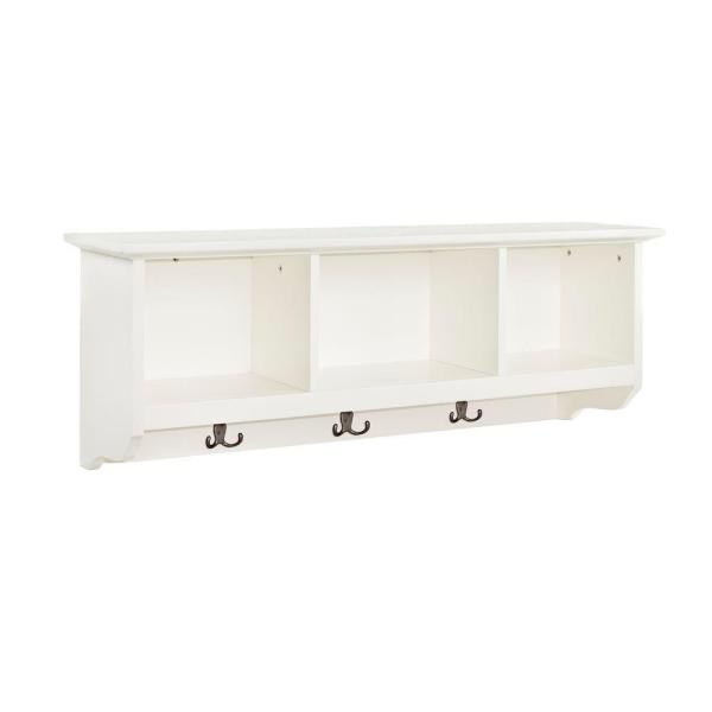 Crosley Brennan Entryway Storage Shelf in White CF6004-WH