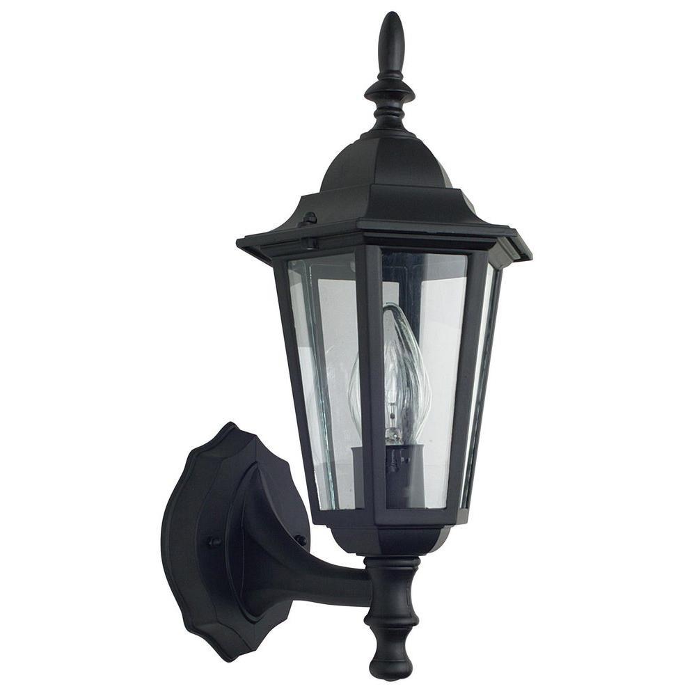 Gately 1-Light Black Outdoor Wall Lantern