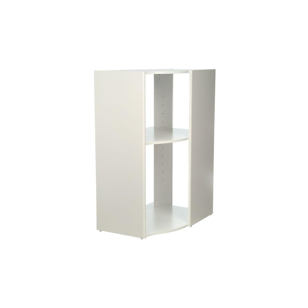 ClosetMaid Selectives 41.5 in. H x 29 in. W x 20 in. D 3-Shelf White Stackable Corner Organizer