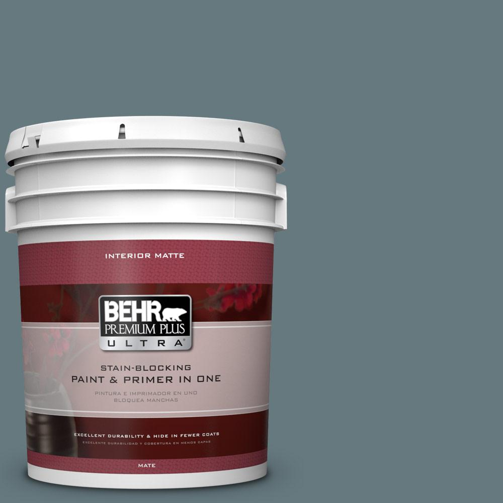 5 gal. #BXC-81 Crater Lake Matte Interior Paint