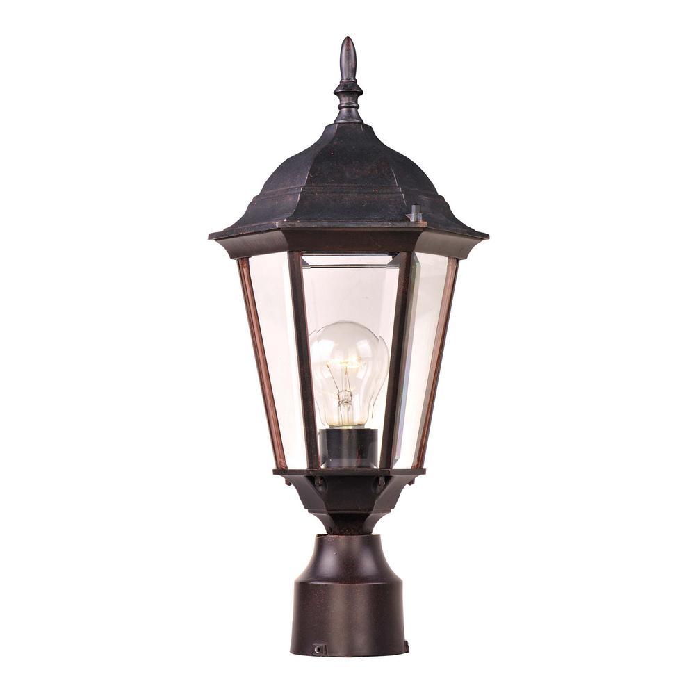 Westlake 8 in. Wide 1-Light Outdoor Empire Bronze Post Light