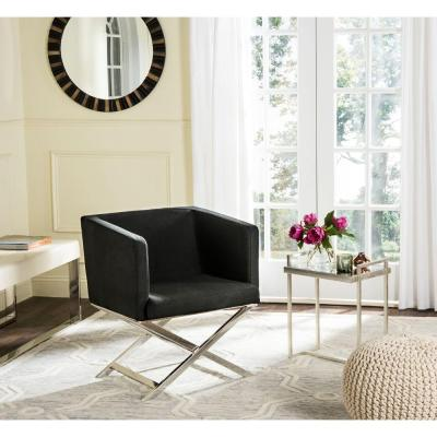 Celine Black Dacron Arm Chair