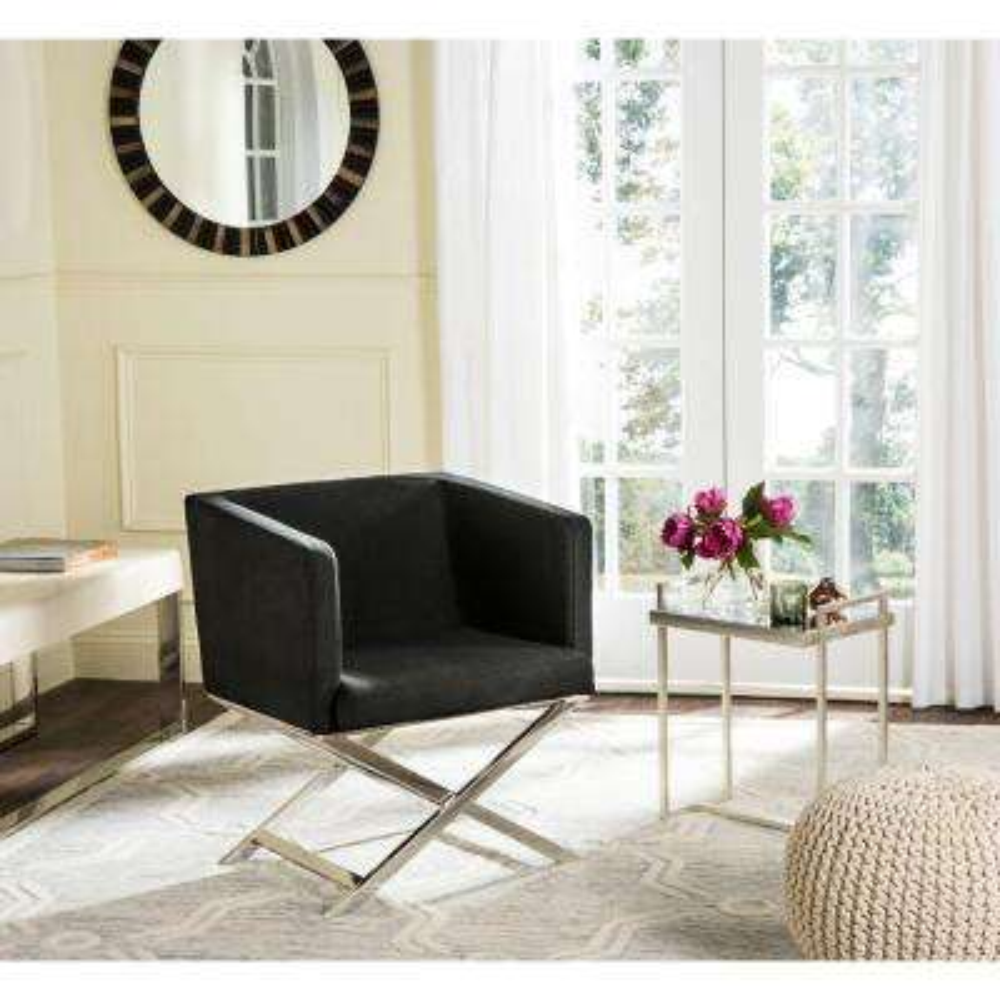 Celine Black Dacron Arm Chair